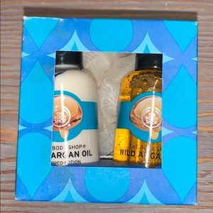The body shop wild argan oil shower gel and lotion